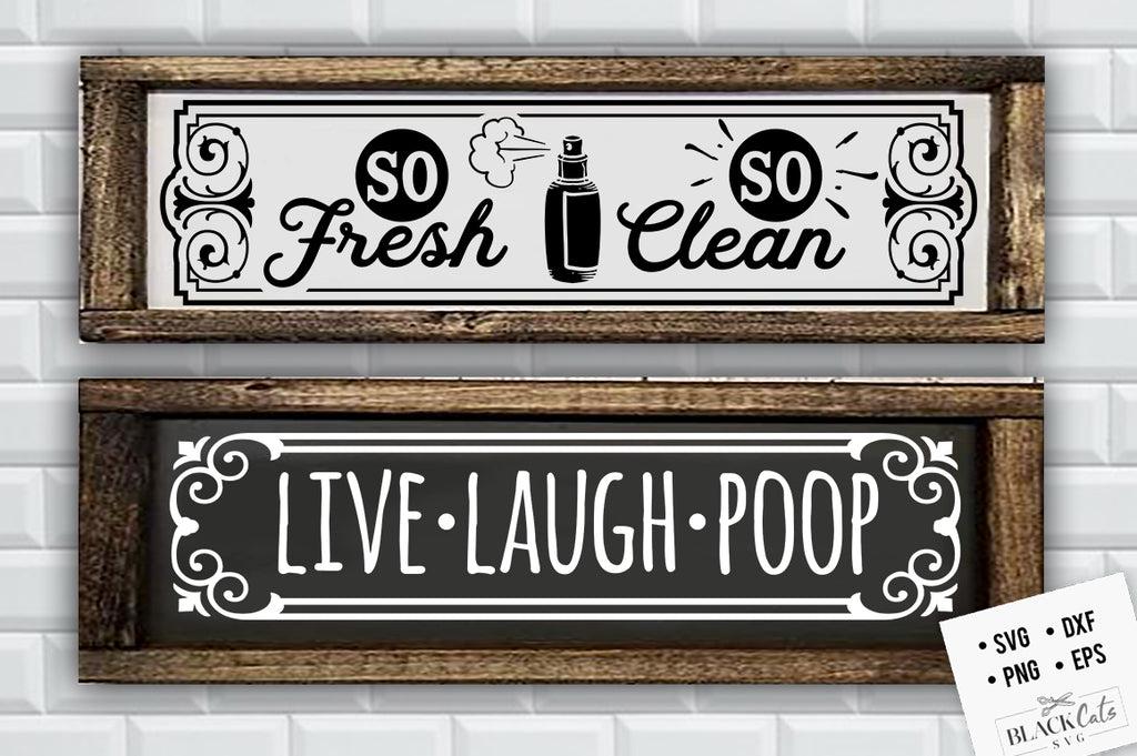 Live laugh poop SVG