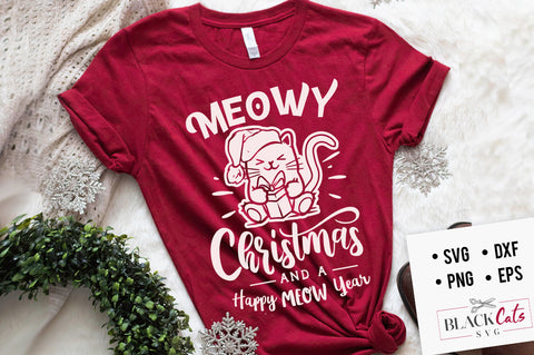 Meowy Christmas - SVG cutting file