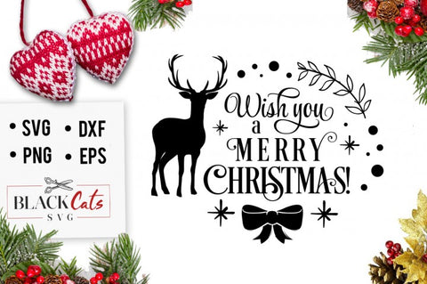 Wish you a Merry Christmas SVG