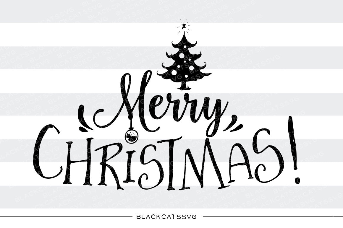 Download Merry Christmas - SVG cutting file - Christmas tree ...