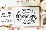 November SVG file Cutting File Clipart in Svg, Eps, Dxf, Png for Cricut & Silhouette