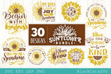 Sunflower SVG bundle 30 designs sunshine SVG bundle