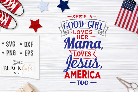 She's a good girl SVG file Cutting File Clipart in Svg, Eps, Dxf, Png for Cricut & Silhouette