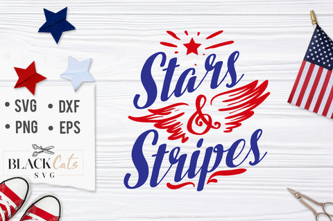 Stars & Stripes SVG file Cutting File Clipart in Svg, Eps, Dxf, Png for Cricut & Silhouette