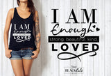 I am enough - motivational  -  SVG file Cutting File Clipart in Svg, Eps, Dxf, Png for Cricut & Silhouette - beach svg