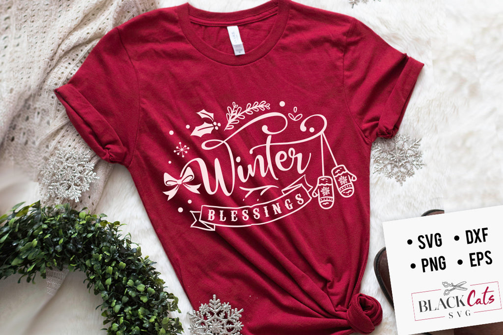 Winter blessings SVG  cutting file