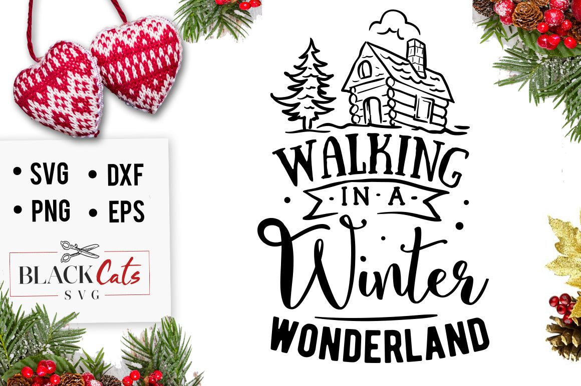 Christmas Tree Svg Free Download.Walking In A Winter Wonderland Free Svg Cutting File
