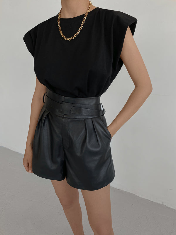 NANNETTE leather shorts