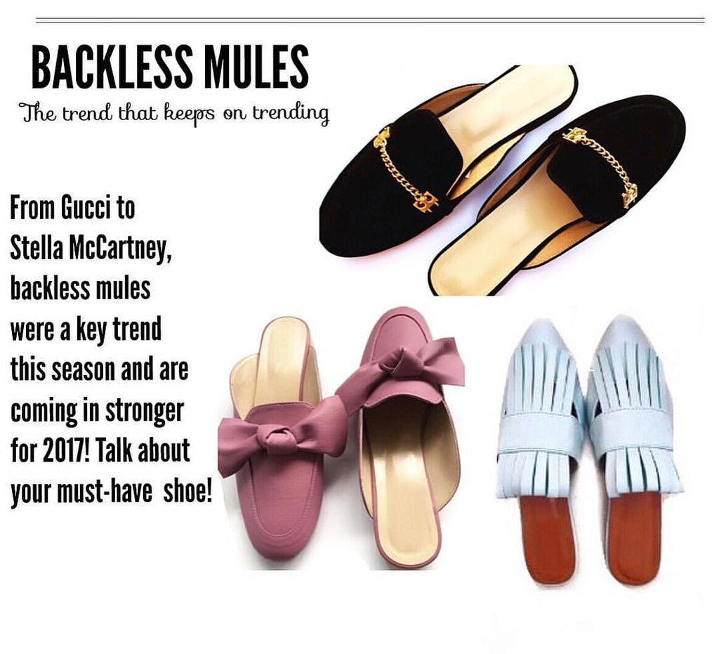 Shoe Trend Alert: Backless Flat Mules