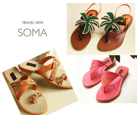 vacation sandals - handmade leather sandals - Soma sandals