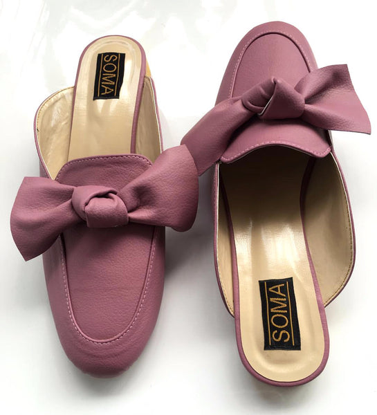 Backless Bow Loafers - SOMA Footwear