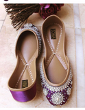 Pearl Beaded Flat Shoes