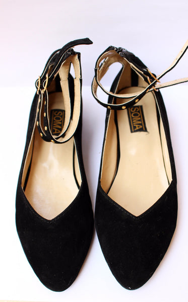 Rock-star Studded Ankle Strap Flats - SOMA Footwear