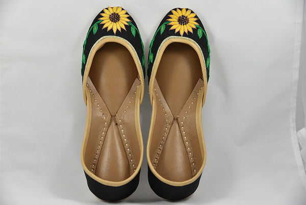 Sunflower Power Embroidered Flats - SOMA Footwear
