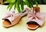 Open Toe Bow Slides - SOMA Footwear