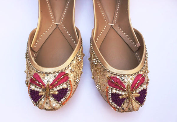 Eye-Catching Butterfly Motif Flats - SOMA Footwear