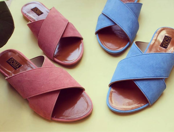 Soft Crossover Slides - SOMA Footwear
