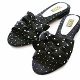Dotted Bow Tie Slides - SOMA Footwear