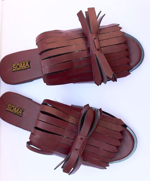 Miss Fringe Slide Sandals - SOMA Footwear