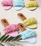 Pastel Feathered Sandals - SOMA Footwear