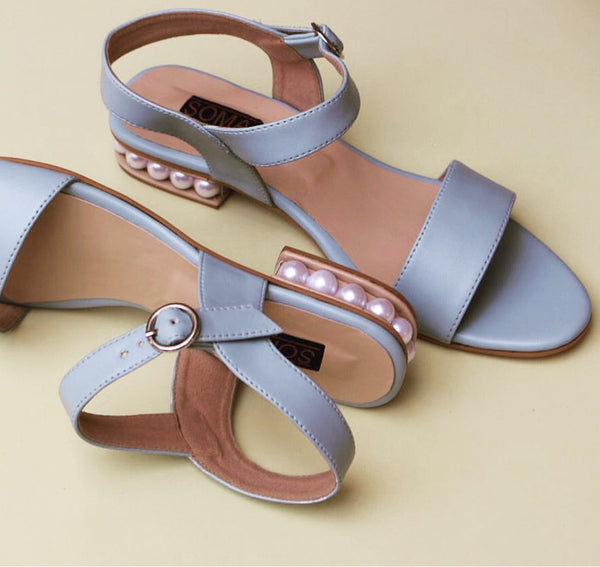 pearl heel summer sandals - soma