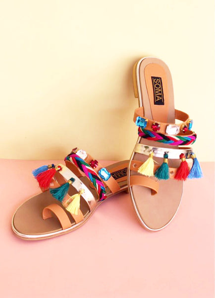 Tribal Tassel Sandals - SOMA Footwear