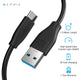 Blaze 1.5m USB Type C to USB A 3.0 Cable