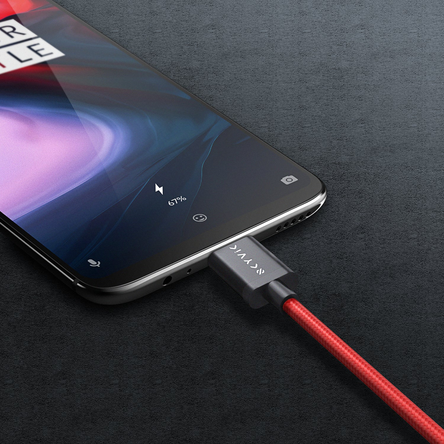 Blaze Nylon Braided Type C Dash Charging Cable
