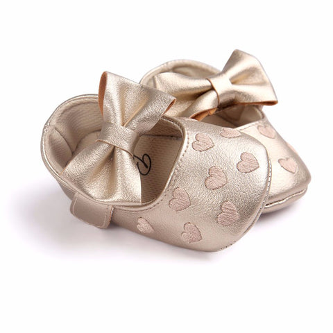 Hearts Bowknot Shoes - SimplyBaby.co - Shoes Funny baby clothes