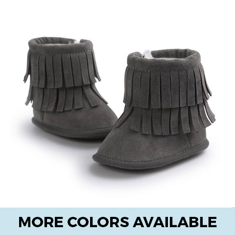 Tassels Moccasin Boots - SimplyBaby.co - Shoes Funny baby clothes