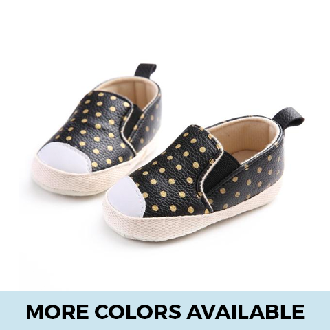 Leather Polka Dot Shoes - SimplyBaby.co - Shoes Funny baby clothes
