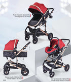 Deluxe Baby Stroller 3-in-1 Folding Carriage and Car Seat ***Free Shipping***