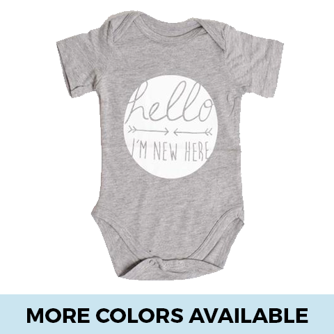 Hello, I'm New Here - SimplyBaby.co - Onesie Funny baby clothes