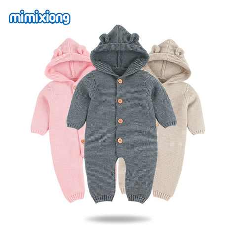 Baby Rompers Knitted Long Sleeve Jumpsuits Onesie - FREE Shipping - SimplyBaby.co - Onesie Funny baby clothes