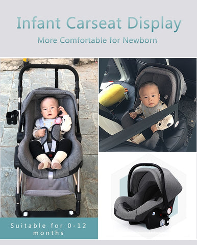 Baby Stroller 3-in-1 Folding Carriage and Car Seat ***Free Shipping*** - SimplyBaby.co - Carriers Funny baby clothes