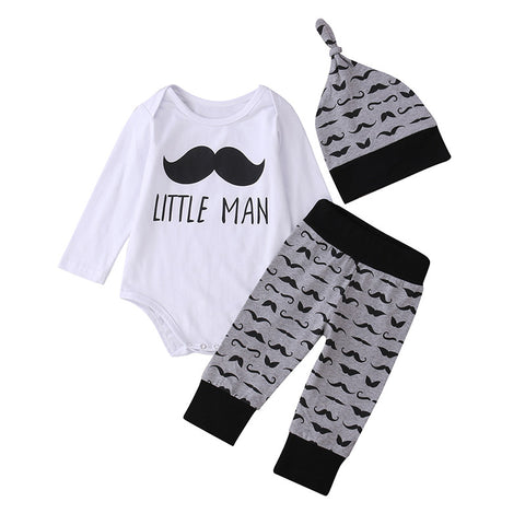 Little Man 3-Piece Set - SimplyBaby.co - 3 piece set Funny baby clothes