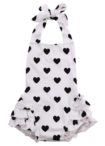 Polka Hearts Romper - SimplyBaby.co - Cute & Affordable Clothing For The Whole Family!