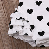 Polka Hearts Romper - SimplyBaby.co - 1-Piece Funny baby clothes