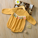 Autumn Baby Girl Long Sleeve Tassel - SimplyBaby.co - Girl Clothes Funny baby clothes