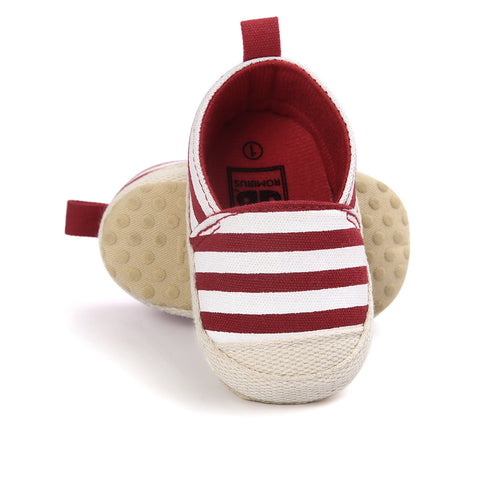 Striped Slip-ons - SimplyBaby.co - Shoes Funny baby clothes
