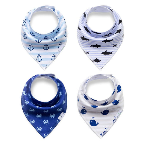 Baby Bandana Bibs - Set of 4 - SimplyBaby.co - Cute & Affordable Clothing For The Whole Family!