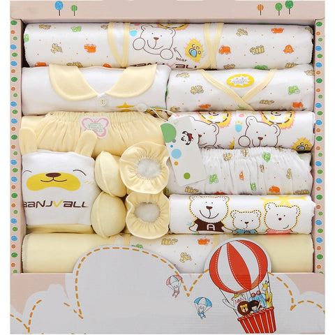 Newborn Warm Clothes Kit Baby Gift Bulk 18 pieces Boy / Girl set - SimplyBaby.co - Baby Shower Funny baby clothes