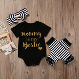 Mommy is My Bestie 3-Piece Set - SimplyBaby.co - Clothing Set Funny baby clothes