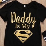 Daddy is My Superman 3-Piece Set - SimplyBaby.co - 3 piece set Funny baby clothes