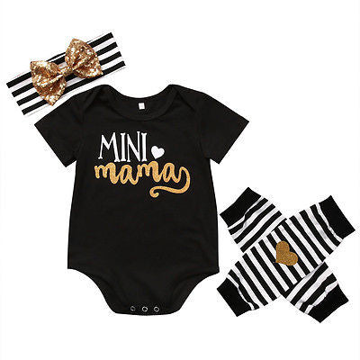 Mini Mama 3-Piece Set - SimplyBaby.co - 3 piece set Funny baby clothes