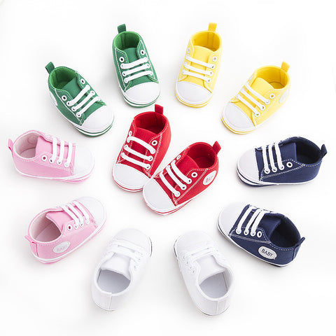 Lace up Baby Sneaker - SimplyBaby.co - Shoes Funny baby clothes