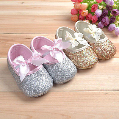 Glitter Bow Tie Shoes - SimplyBaby.co - Shoes Funny baby clothes