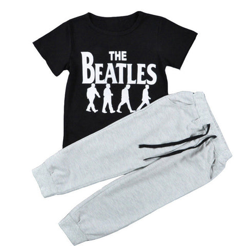 Beatles T-shirt & Sweatpants - SimplyBaby.co - 2-Piece Funny baby clothes