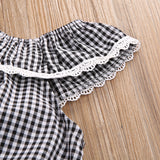 Checkered Sunsuit Romper - SimplyBaby.co - Romper Funny baby clothes