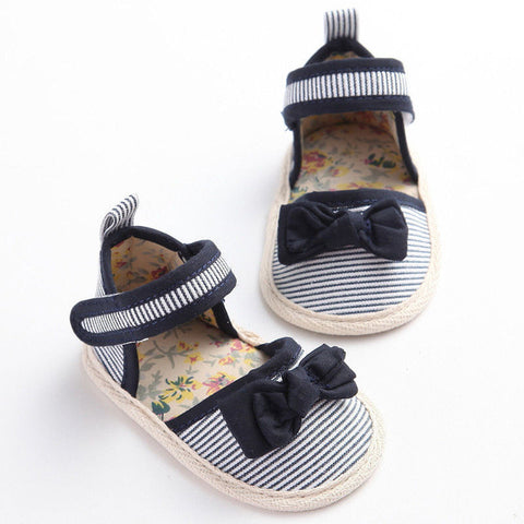 Striped Flower Party Shoes - SimplyBaby.co - Shoes Funny baby clothes